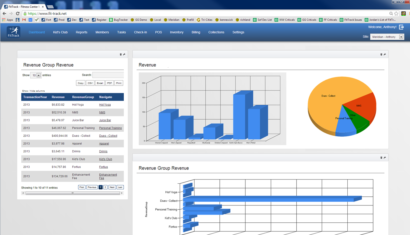 FitTrack Dashboards